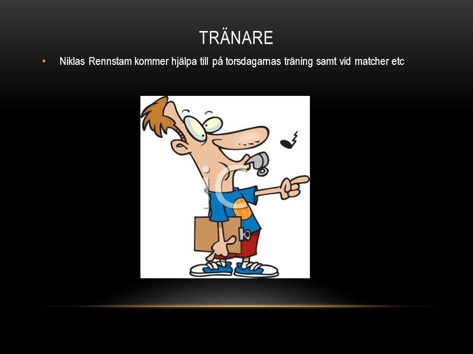TRÄNARE Niklas Rennstam kommer hjälpa till på torsdagarnas träning samt vid matcher etc