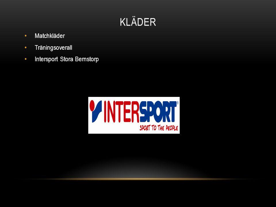 KLÄDER Matchkläder Träningsoverall Intersport Stora Bernstorp