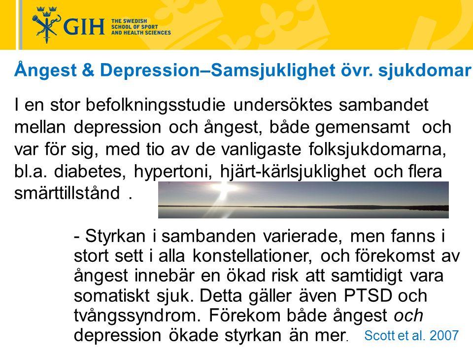 Ångest & Depression–Samsjuklighet övr.