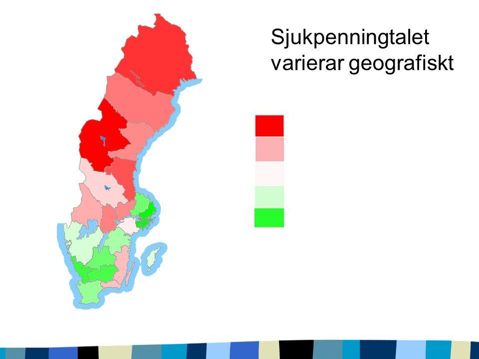 Sjukpenningtalet varierar geografiskt