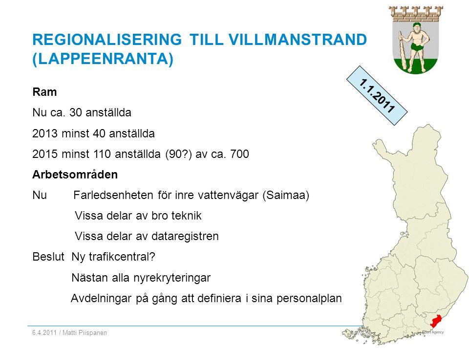 www.fta.fi REGIONALISERING TILL VILLMANSTRAND (LAPPEENRANTA) Ram Nu ca.