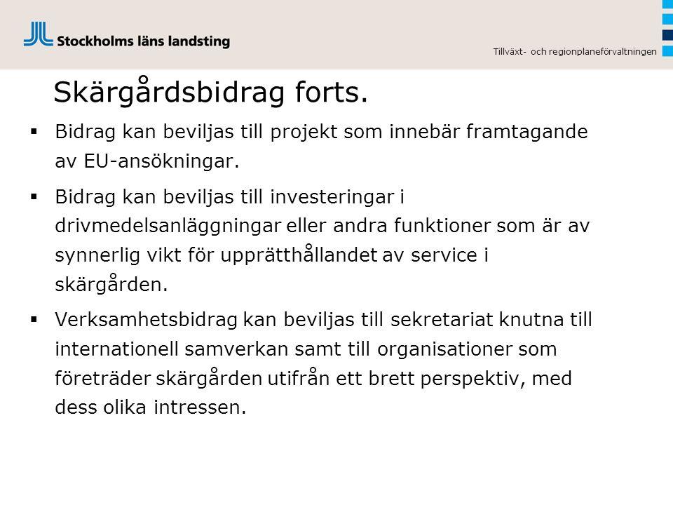 Skärgårdsbidrag forts.