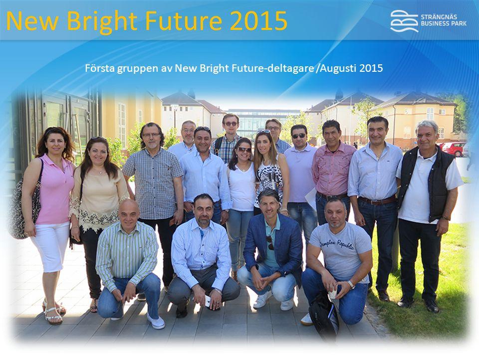 New Bright Future 2015 Första gruppen av New Bright Future-deltagare /Augusti 2015