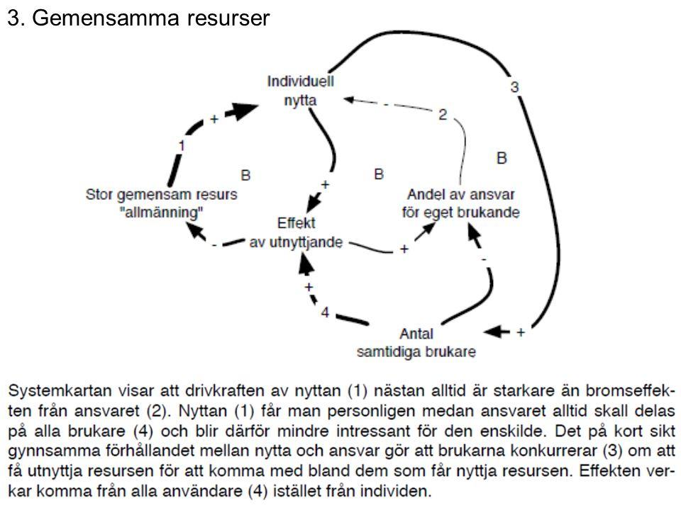 3. Gemensamma resurser