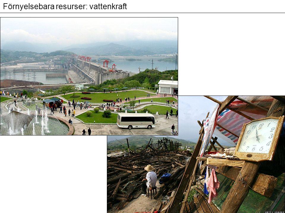 Förnyelsebara resurser: vattenkraft