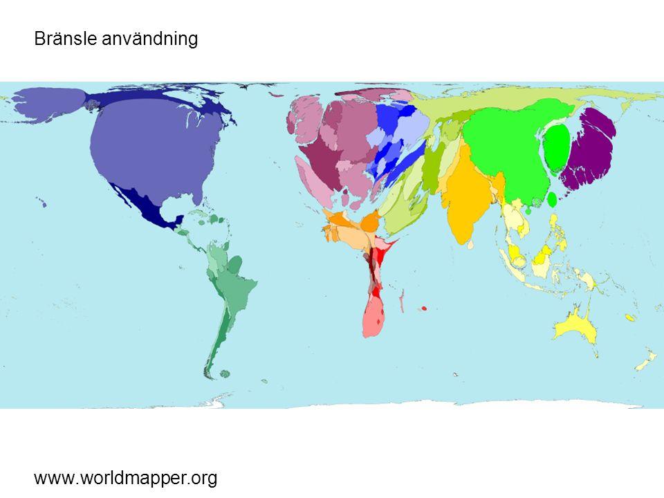 Bränsle import www.worldmapper.org