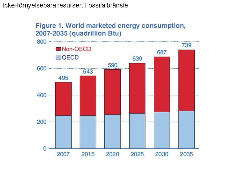 Icke-förnyelsebara resurser: Fossila bränsle