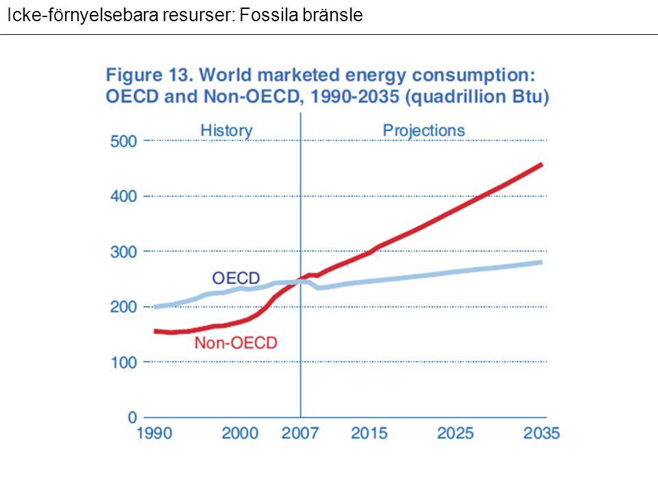 Förnyelsebara resurser: icke-bränsle resurser Potentiellt förnyelsebara resurser 1.Jordmåner 2.Skog 3.Vatten 4.Fisk