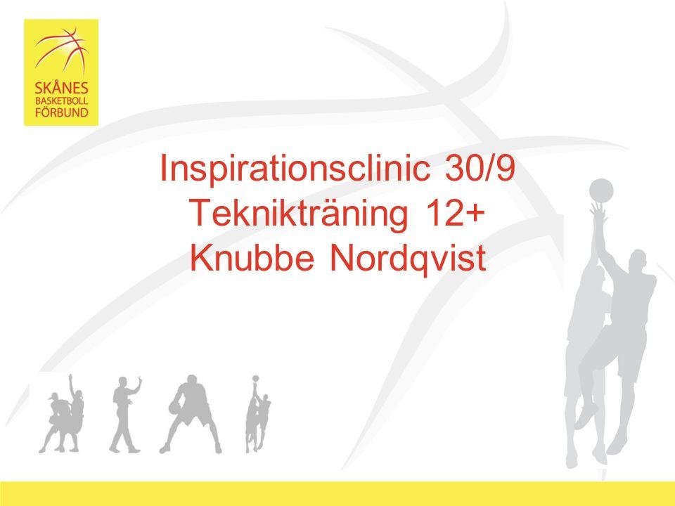 Inspirationsclinic 30/9 Teknikträning 12+ Knubbe Nordqvist