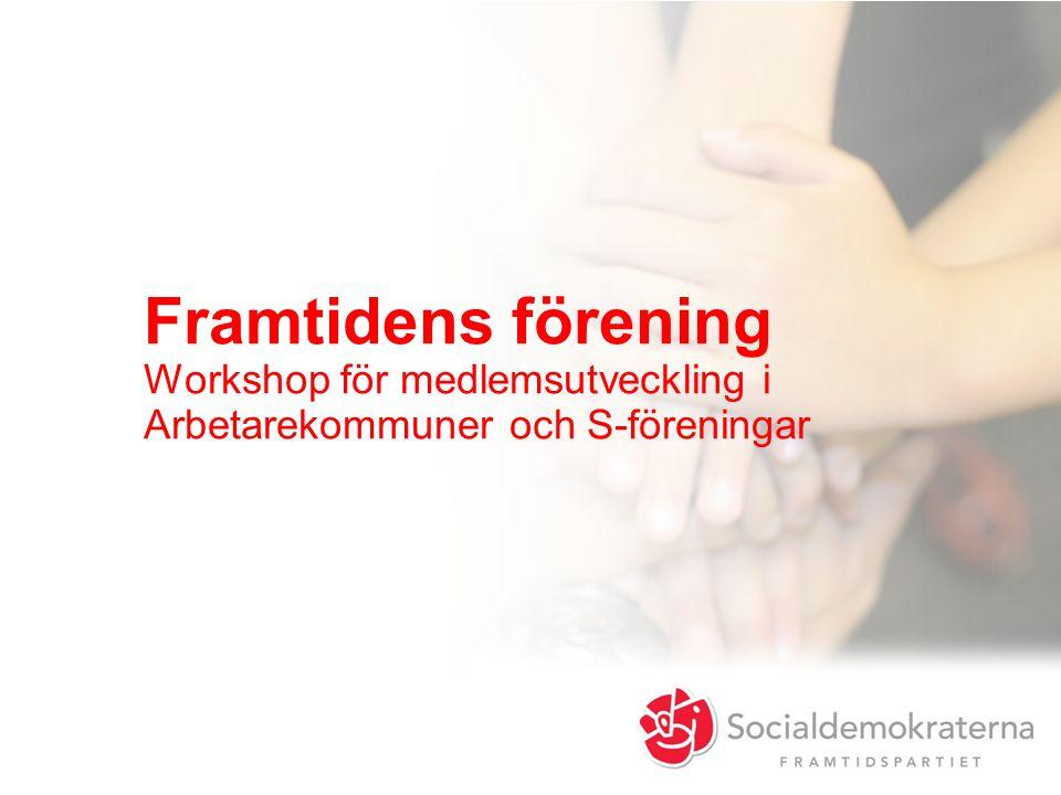 Framtidens förening Workshop för medlemsutveckling i Arbetarekommuner och S-föreningar