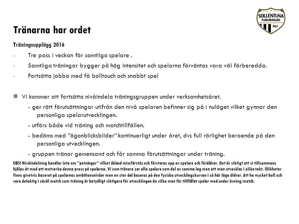 Verksamhetsplan 2016 Verksamhetsåret pågår från 4 januari tom 30 november 2016 Sommaruppehållet är mellan perioden 4 juli tom prel.