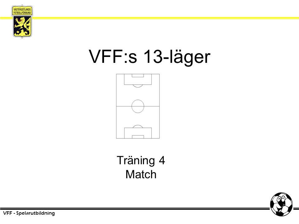 VFF:s 13-läger VFF - Spelarutbildning Träning 4 Match