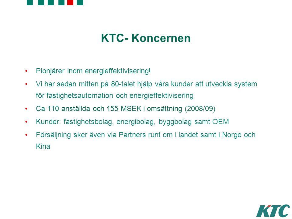 © KTC Control AB KTC- Koncernen Pionjärer inom energieffektivisering.