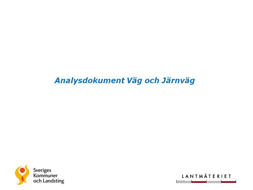 Analysdokument Väg och Järnväg