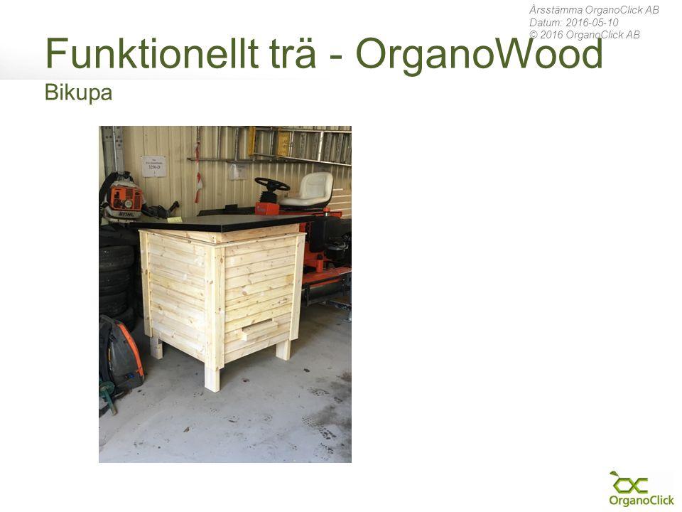 Funktionellt trä - OrganoWood Bikupa Årsstämma OrganoClick AB Datum: 2016-05-10 © 2016 OrganoClick AB