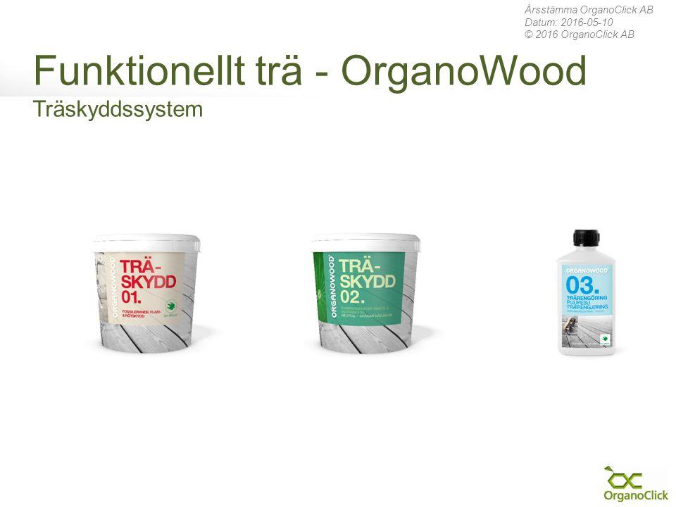 Funktionellt trä - OrganoWood Träskyddssystem