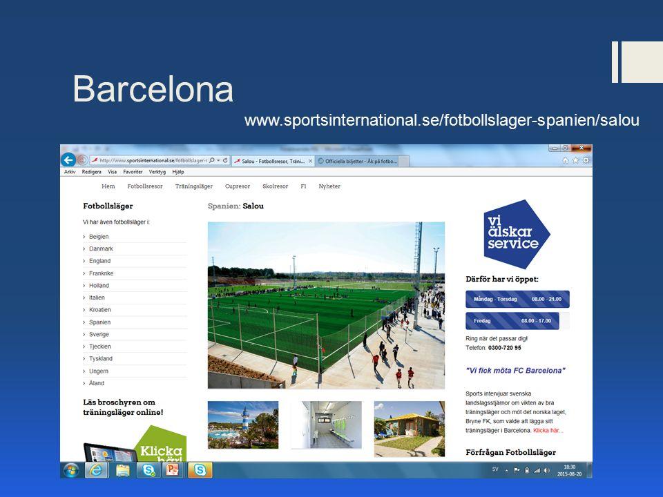 Barcelona www.sportsinternational.se/fotbollslager-spanien/salou