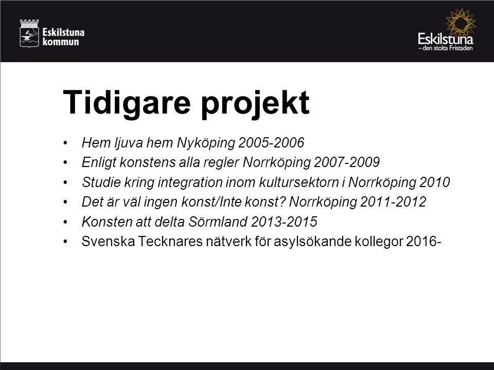 Hem ljuva hem Nyköping 2005-2006 Enligt konstens alla regler Norrköping 2007-2009 Studie kring integration inom kultursektorn i Norrköping 2010 Det är