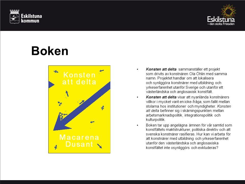 Boken Konsten att delta sammanställer ett projekt som drivits av konstnären Ola Öhlin med samma namn. Projektet handlar om att lokalisera och synliggö