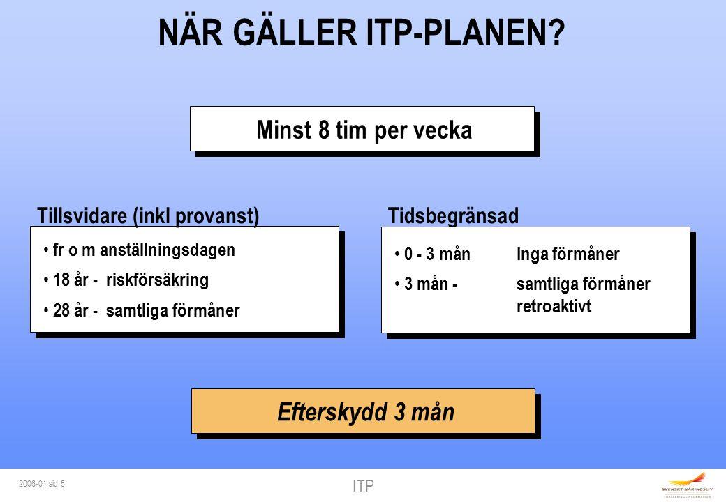 ITP 2006-01 sid 5 NÄR GÄLLER ITP-PLANEN.