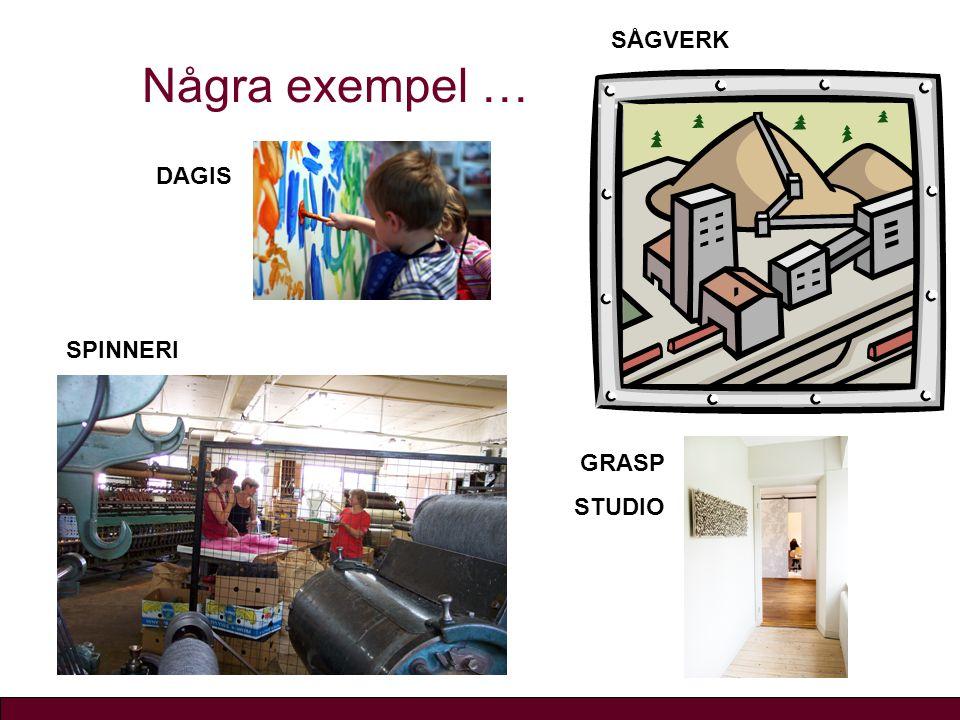 Några exempel … GRASP STUDIO SÅGVERK SPINNERI DAGIS