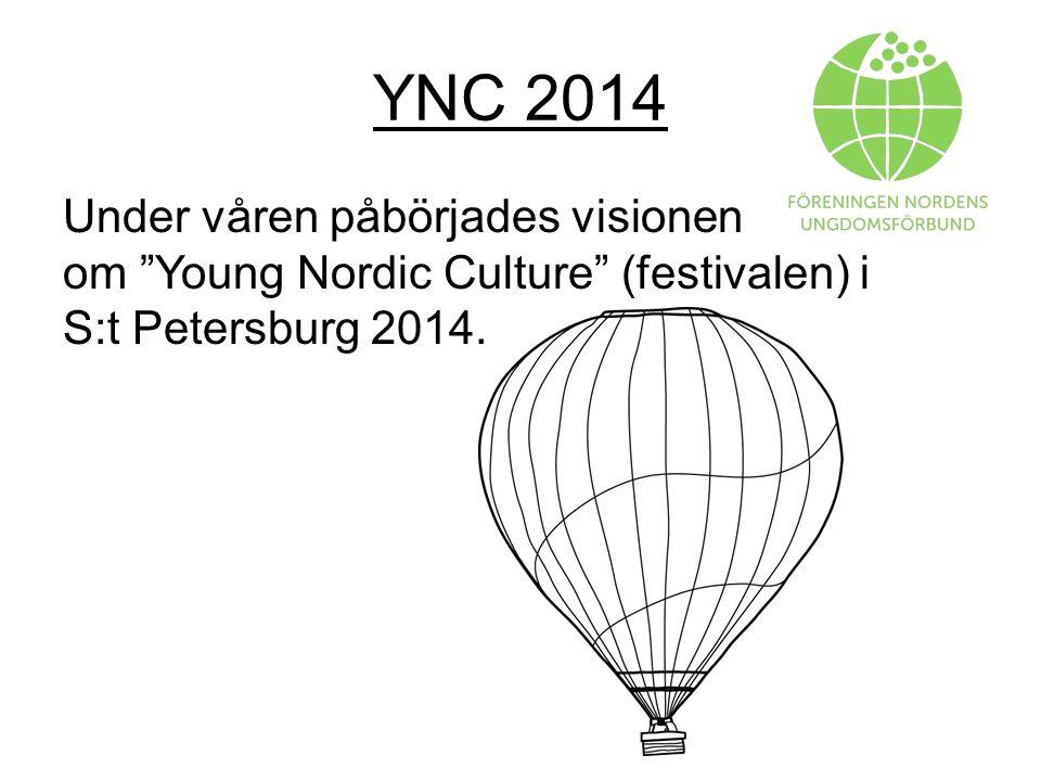 YNC 2014 Under våren påbörjades visionen om Young Nordic Culture (festivalen) i S:t Petersburg 2014.
