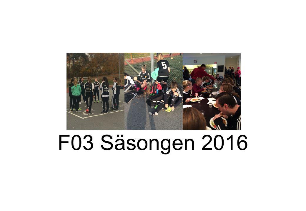 F03 Säsongen 2016