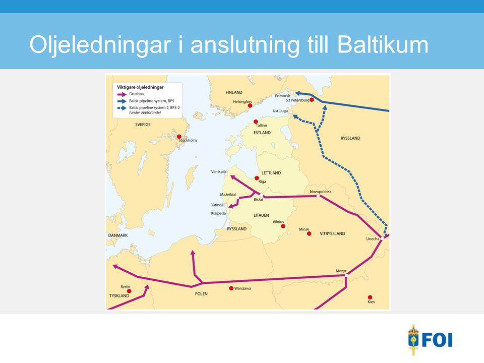 Oljeledningar i anslutning till Baltikum