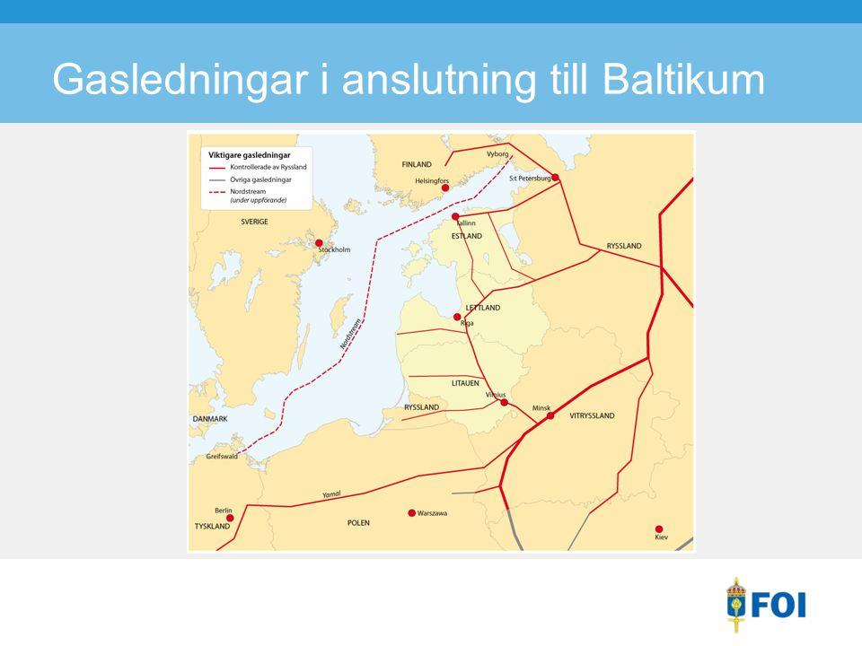 Gasledningar i anslutning till Baltikum