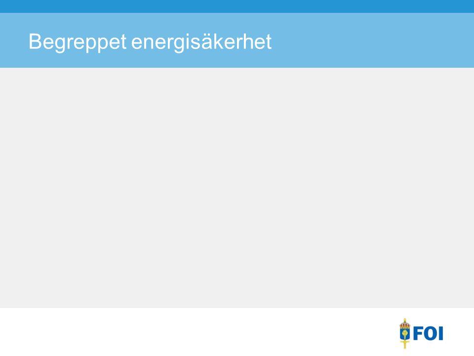 Begreppet energisäkerhet