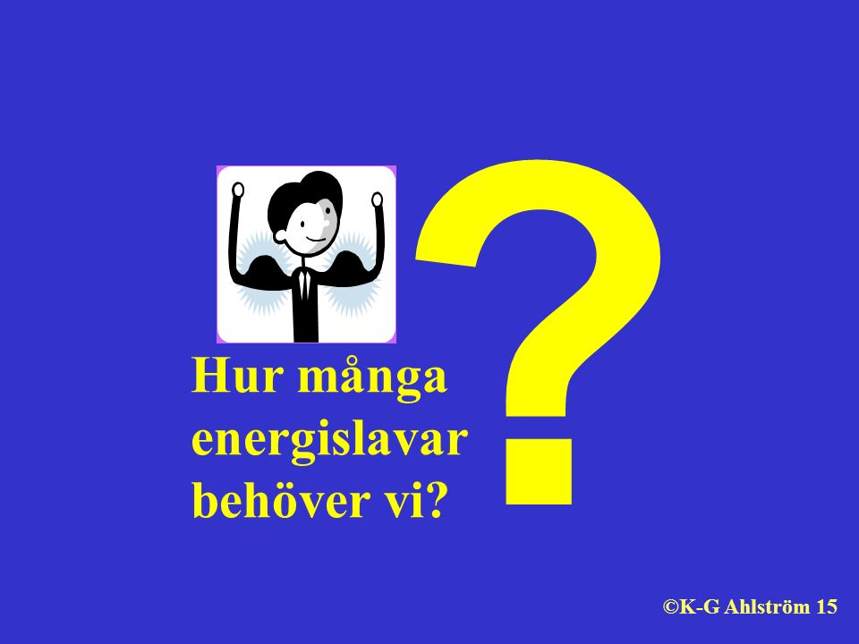 ? Hur många energislavar behöver vi? ©K-G Ahlström 15