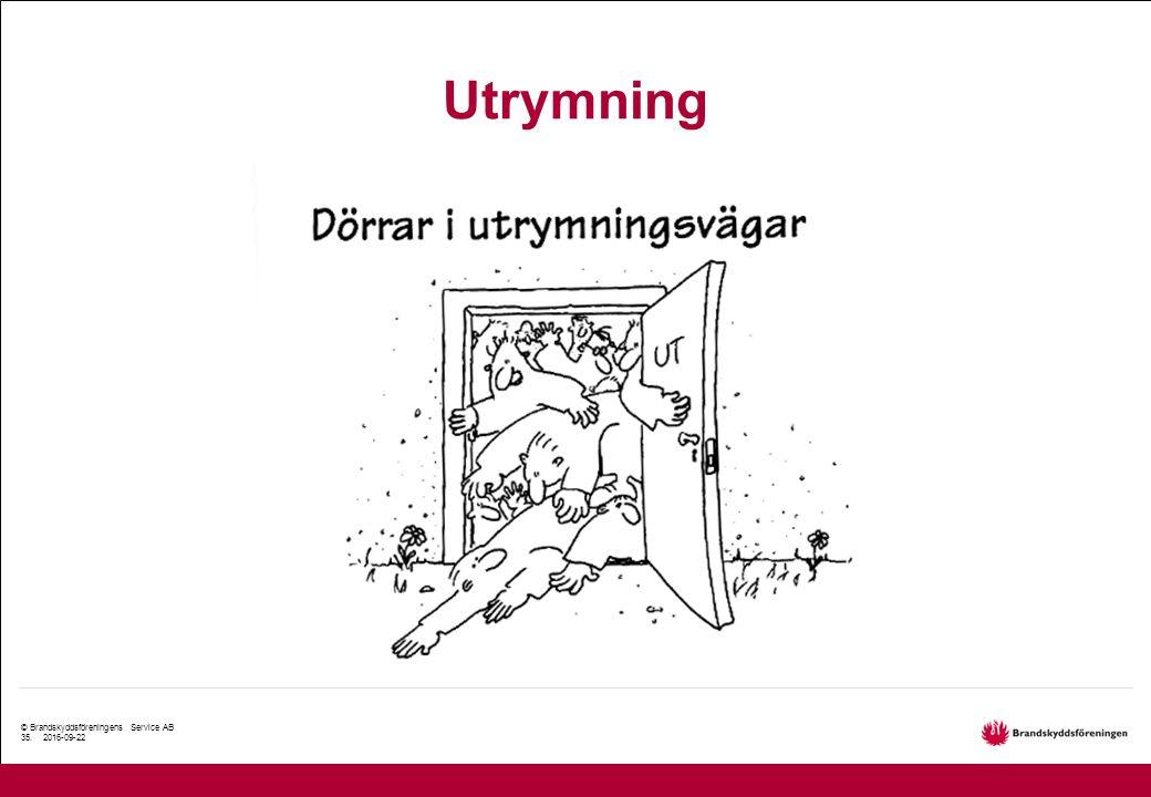 © Brandskyddsföreningens Service AB 35. 2016-09-22 Utrymning