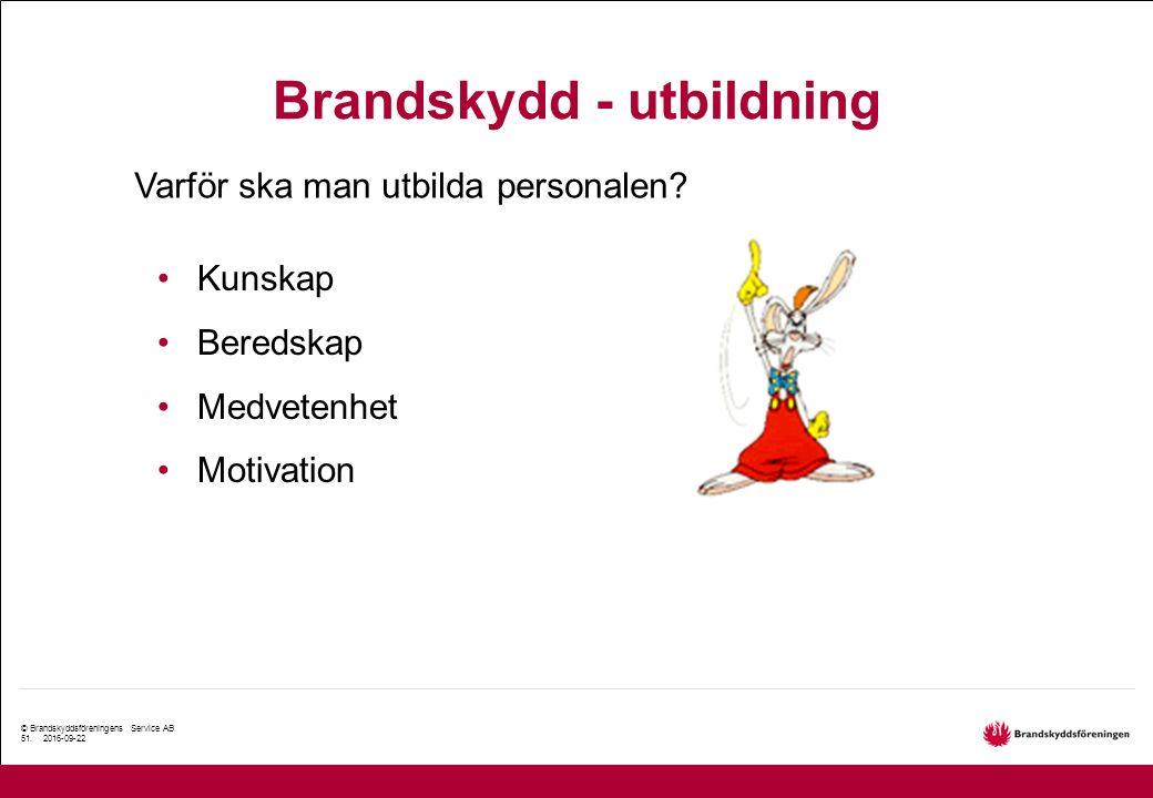 © Brandskyddsföreningens Service AB 51.