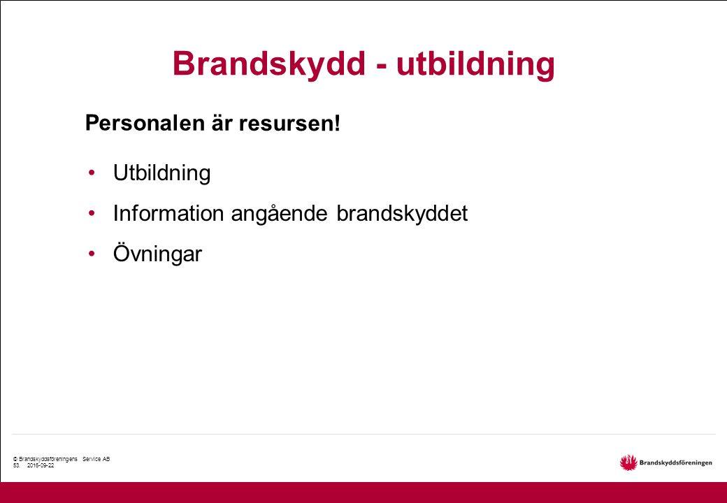 © Brandskyddsföreningens Service AB 53.