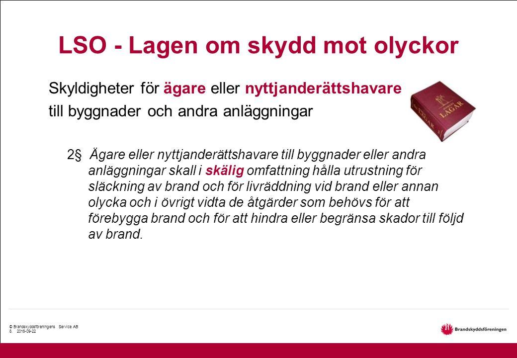 © Brandskyddsföreningens Service AB 8.