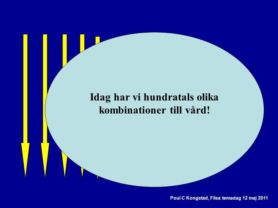Poul C Kongstad, Flisa temadag 12 maj 2011 Idag har vi hundratals olika kombinationer till vård!