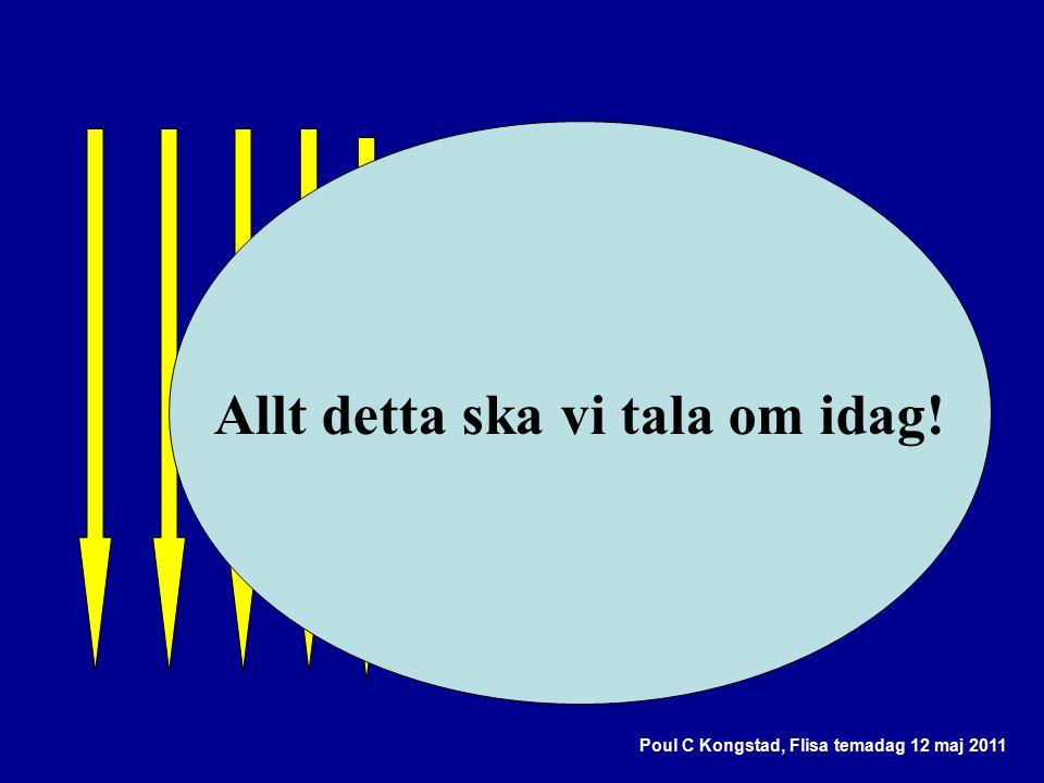 Poul C Kongstad, Flisa temadag 12 maj 2011 Allt detta ska vi tala om idag!