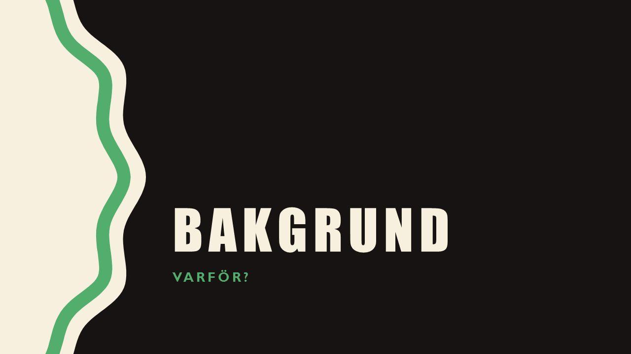 BAKGRUND VARFÖR