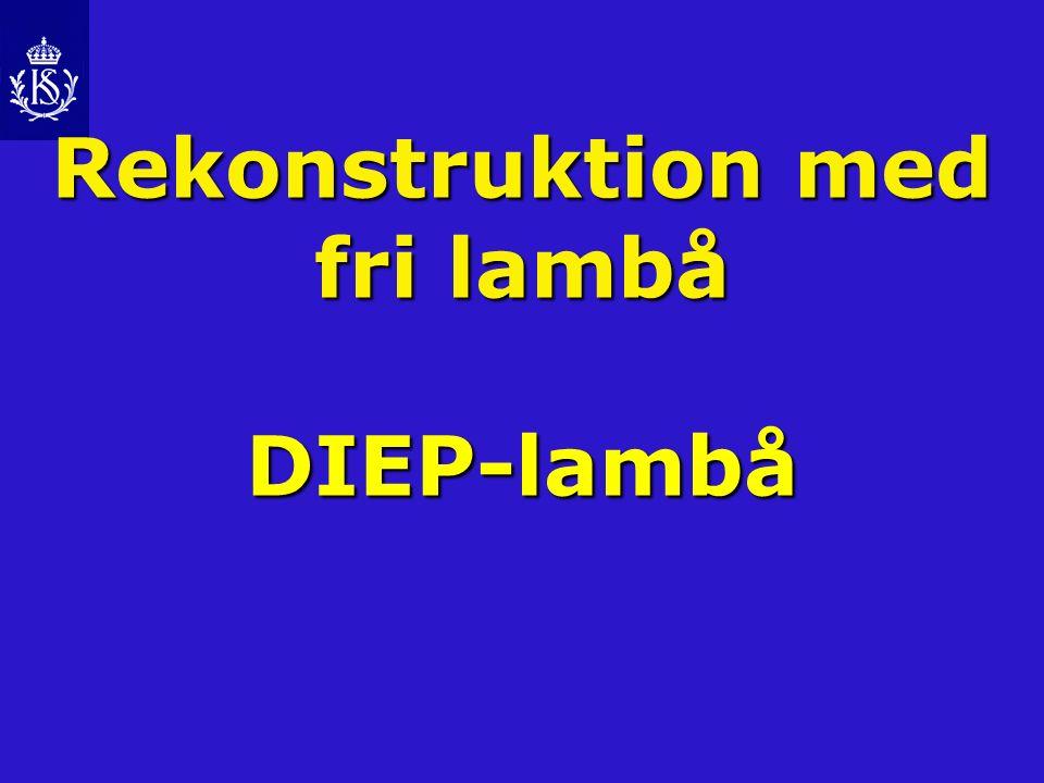 Rekonstruktion med fri lambå DIEP-lambå