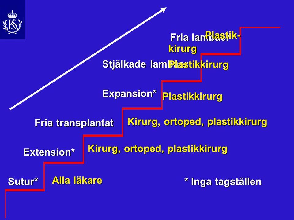 Mjukdelstäckning Stjälkade lambåer m.latissimus dorsi m.