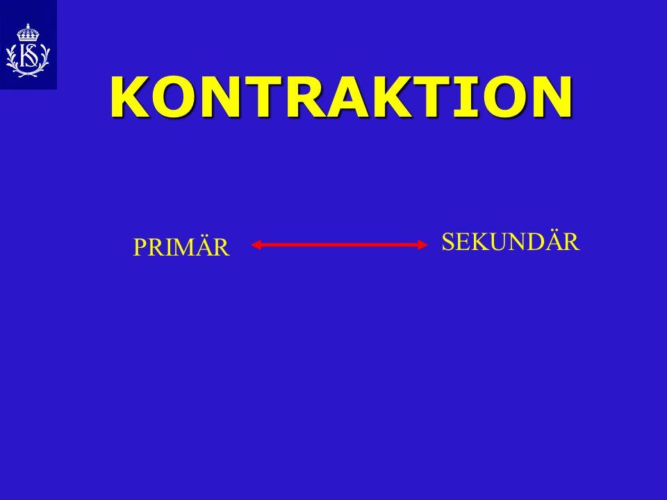 KONTRAKTION PRIMÄR SEKUNDÄR