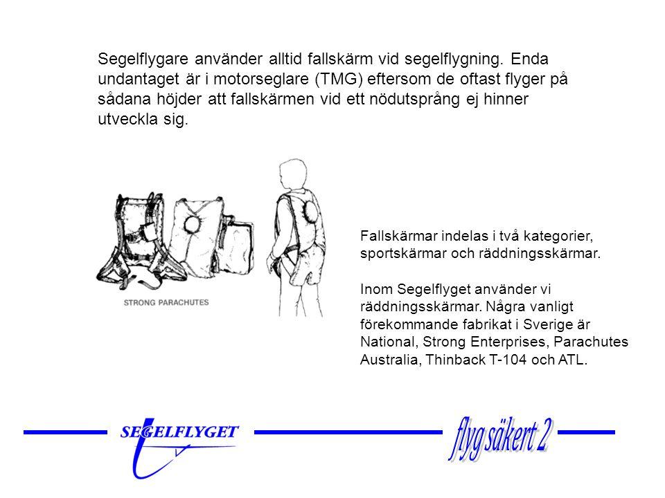  Genom att skärmen är styrbar kan man påverka valet av landningsplats mer eller mindre beroende på höjd och aktuell vindstyrka  Rätt använd (styrd) påverkar man också landningsfarten/fallhastigheten väsentligt  Skärmen skall alltid landas i motvind, medvindslandning kan orsaka allvarliga skador om vinden är kraftig Styrningen utförs så att man sträcker upp vänster eller höger arm och tar tag i och drar ned en utmärkt styrlina/styrhandtag.