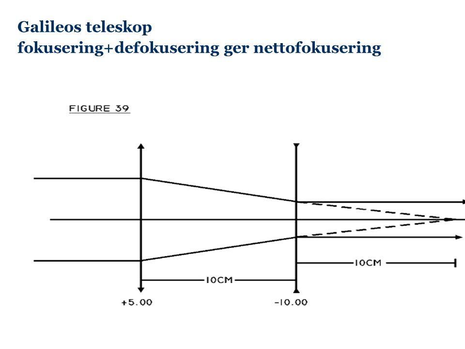 Galileos teleskop fokusering+defokusering ger nettofokusering