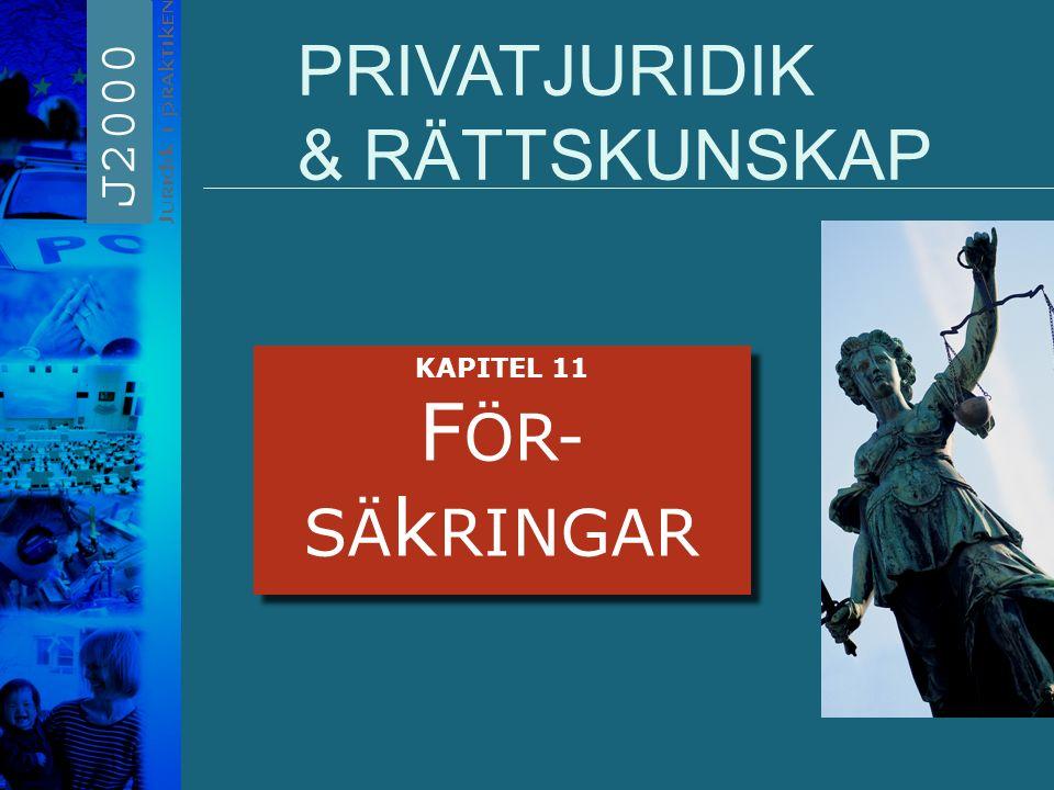 PRIVATJURIDIK & RÄTTSKUNSKAP KAPITEL 11 F ÖR- SÄ k RINGAR KAPITEL 11 F ÖR- SÄ k RINGAR