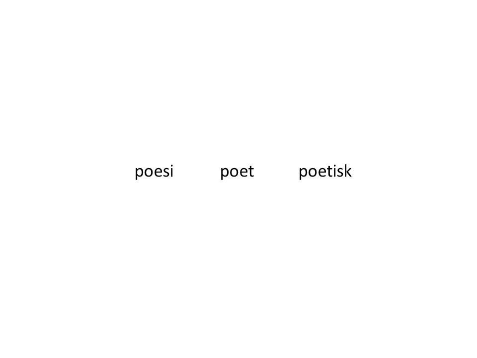 poesi poet poetisk