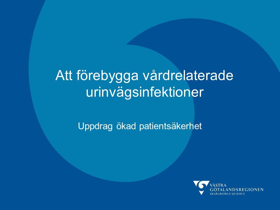 Att förebygga vårdrelaterade urinvägsinfektioner Uppdrag ökad patientsäkerhet