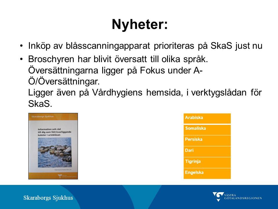 Skaraborgs Sjukhus Nyheter: Inköp av blåsscanningapparat prioriteras på SkaS just nu Broschyren har blivit översatt till olika språk. Översättningarna