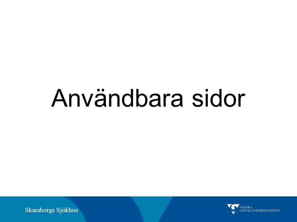 Skaraborgs Sjukhus Användbara sidor