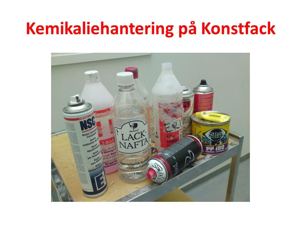 Kemikaliehantering på Konstfack.
