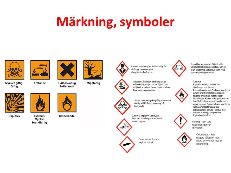 Märkning, symboler